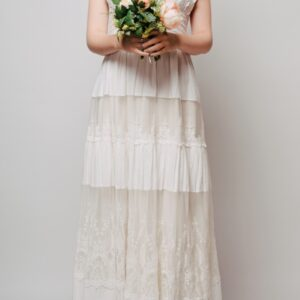 沖縄ウェディングドレス:jacquard dress